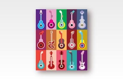 Guitar Icons Vector Design
