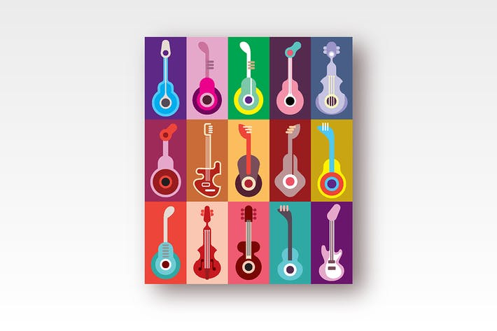Thumbnail for Guitar Icons Vector Design