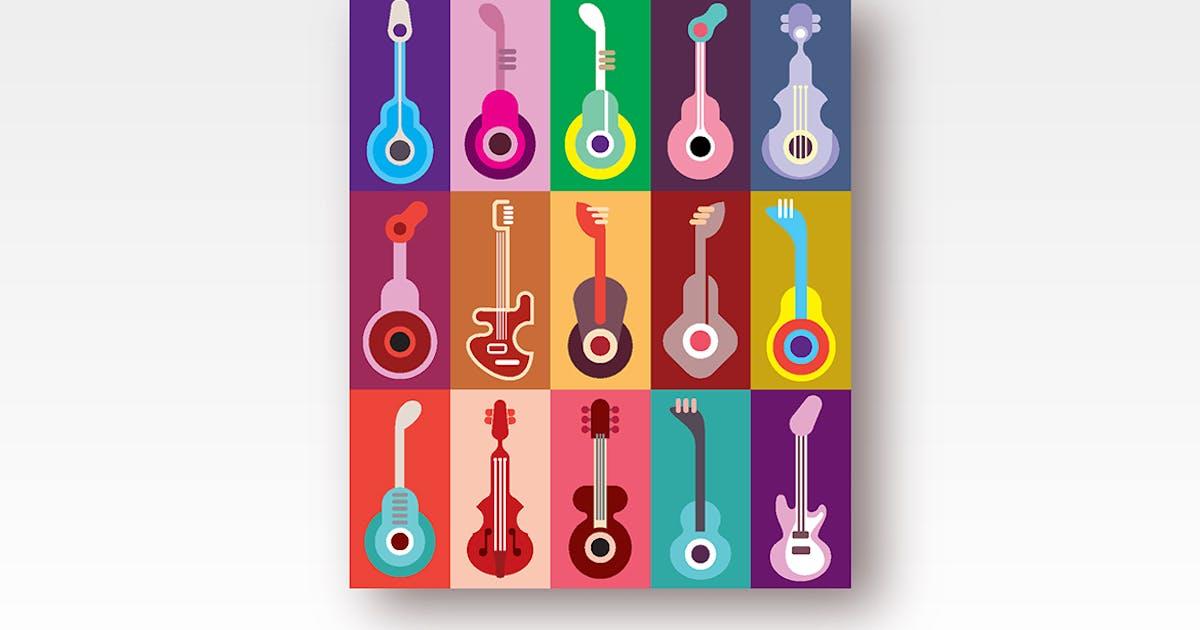 Download Guitar Icons Vector Design by danjazzia