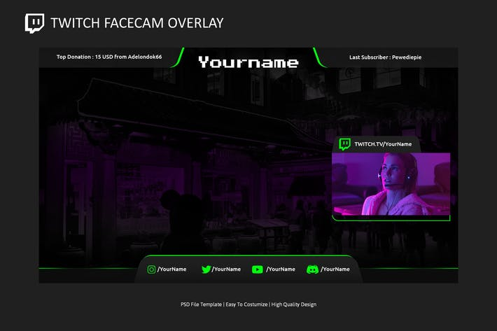Thumbnail for Video Overlay v1 | Video Streaming Overlay