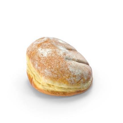 Pulverförmiger Donut