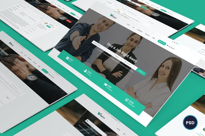 Thumbnail for ViLam - Job Board PSD Template