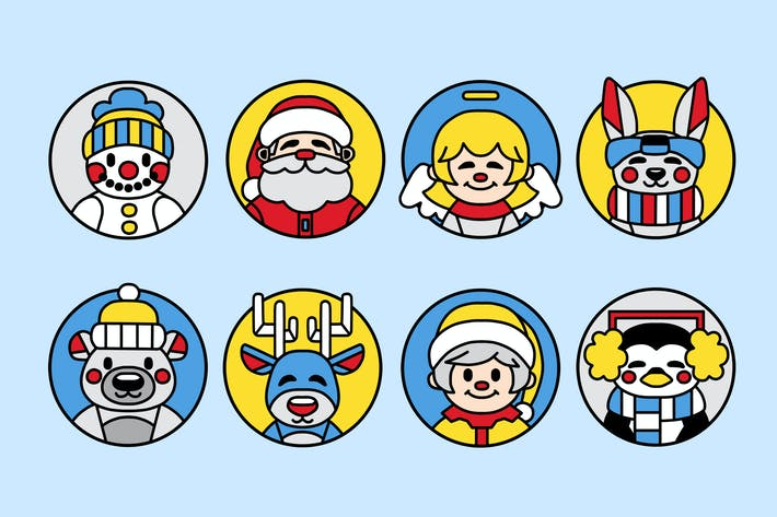 Thumbnail for Christmas Avatars Clipart