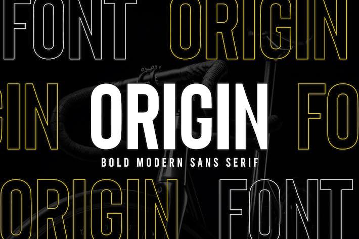 Origen - Negrita Retro Sans Con serifa