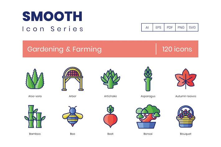 Thumbnail for 120 Gardening & Farming Line Icons