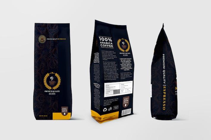Thumbnail for Modèle d'emballage de sac à café