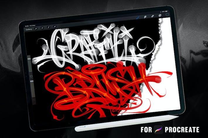 Cover Image For GRAFFITI BRUSH for procreate V2