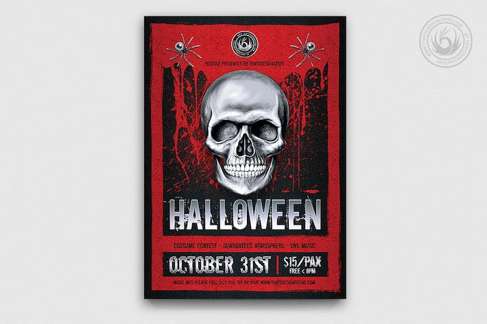 Thumbnail for Halloween Flyer Template V23