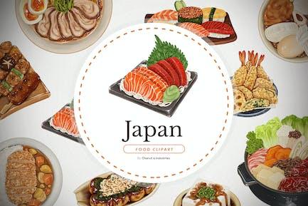 Japanisches Essen - handgezeichnete Elemente