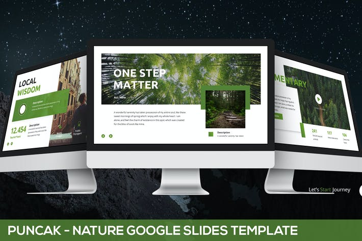 Thumbnail for Puncak - Nature Google Slides Template