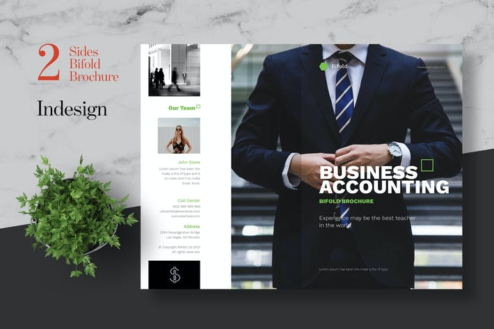 Thumbnail for Clean Accounting Bifold Brochure