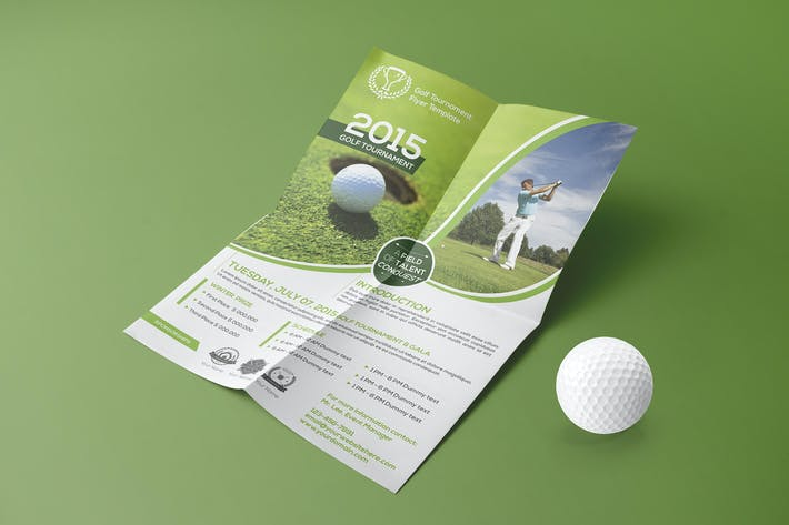 Golf Tournament Flyer Template 02 By Wutip On Envato Elements