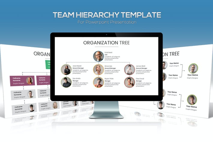 Thumbnail for Team Hierarchy for Powerpoint Presentation