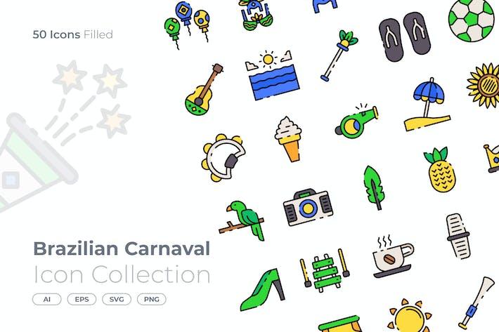 Thumbnail for Brazilian Filled Icon
