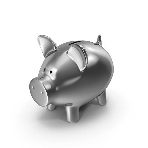 Piggy Bank Silver