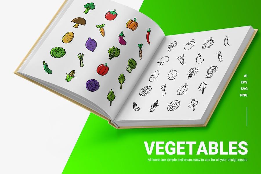 Gemüse - Icons