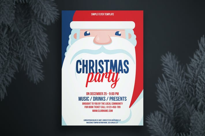 Cover Image For Christmas flyer template