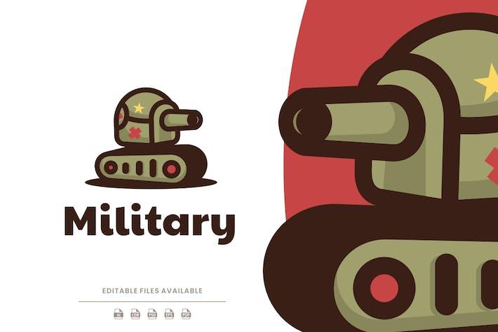 Military Tank Simple Logo