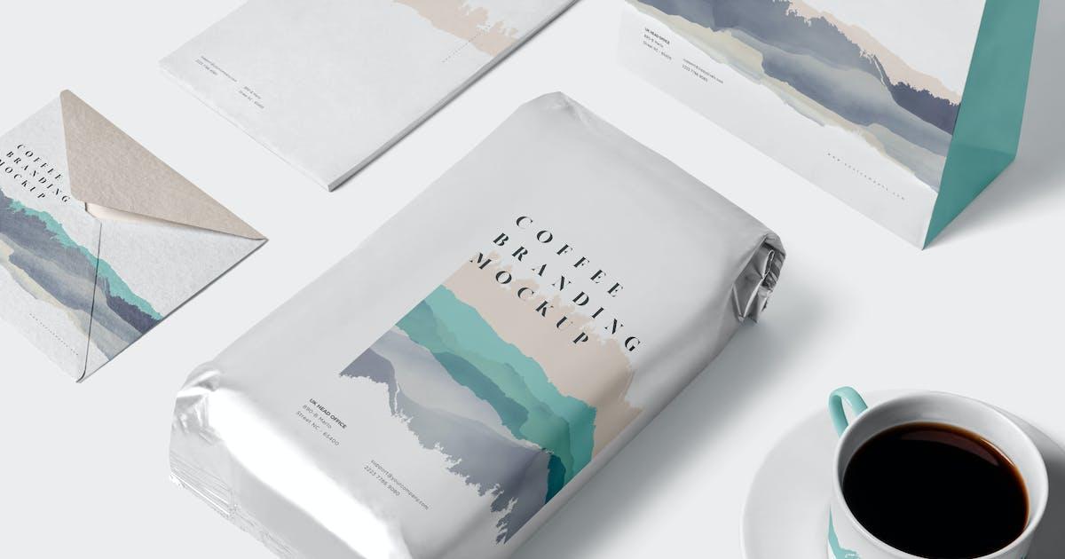 Download Coffee Branding Mockups by GfxFoundry