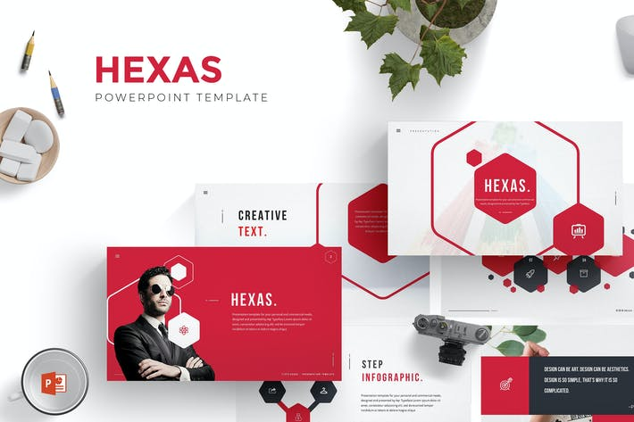 Thumbnail for Hexas Powerpoint Template