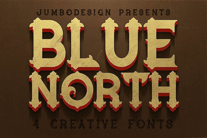 Cover Image For Blue North - Vintage Style Font