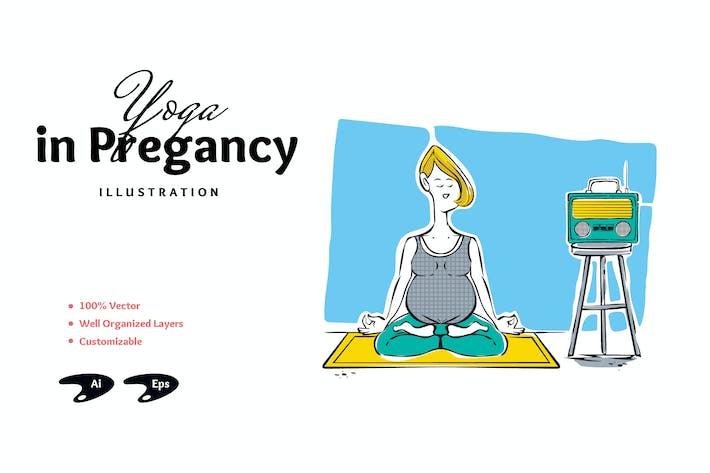 Yoga In Pregnancy Illustration