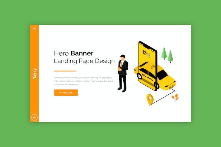 Taksy - Hero Banner Template