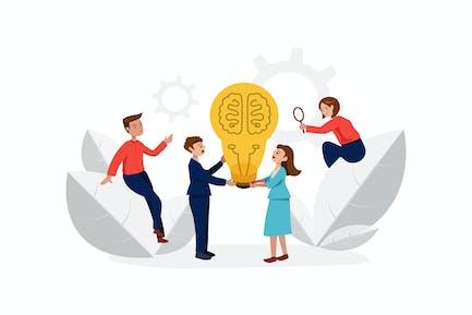 Brainstorming Startup-Business-Team.