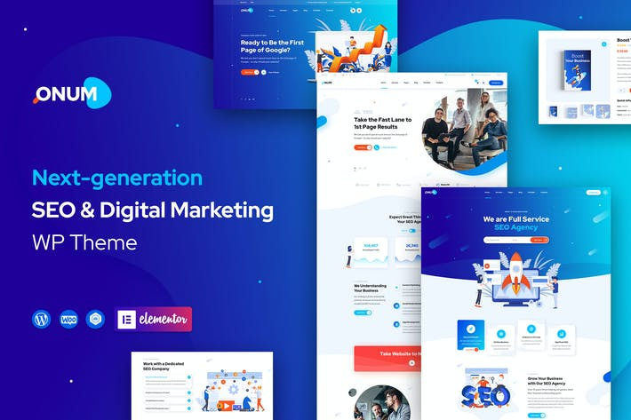 Thumbnail for Onum - SEO & Marketing Elementor WordPress Theme