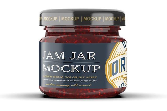 Thumbnail for Raspberry Jam Jar Mockup