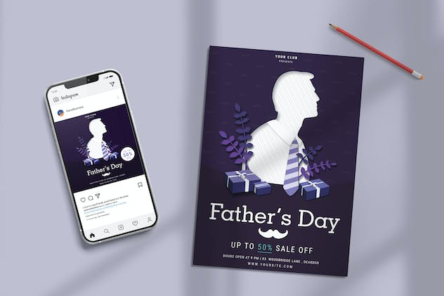 Fathers Day Sale Template