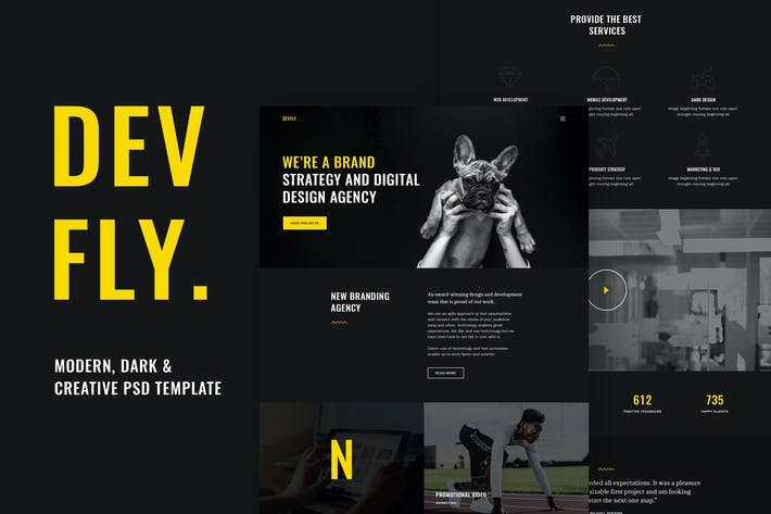Thumbnail for Devfly - Modern & Creative Agency PSD Template
