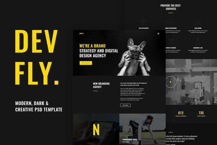 Devfly - Modern & Creative Agency PSD Template