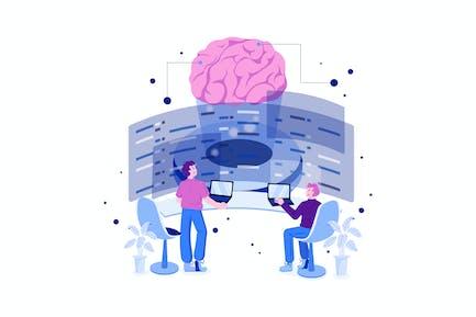 Artificial Intelligence Programming Illustration