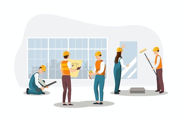 Thumbnail for Erstellen Sie ein Dekorationsprozess Illustration Konzept.