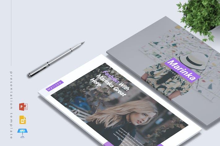 Thumbnail for MARINKA Fashion Powerpoint/Google Slide/Keynote