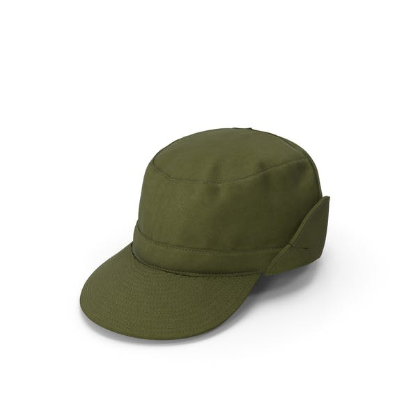 Военная шапка зеленого поля