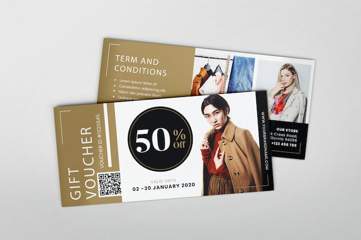 Thumbnail for Beauty Fashion AI and PSD Gift Voucher