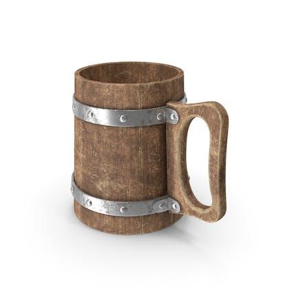 Vaso de madera recto