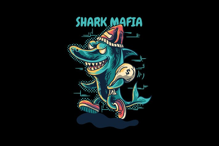 Thumbnail for shark mafia cartoon animal