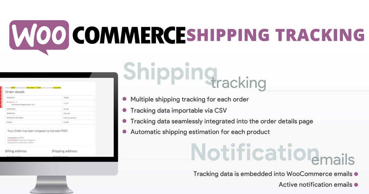 Download WooCommerce Shipping Tracking by vanquish