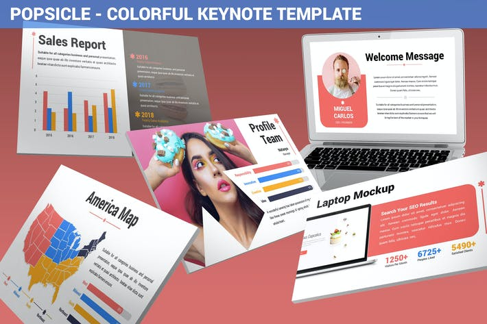 Thumbnail for Popsicle - Colorful Keynote Template