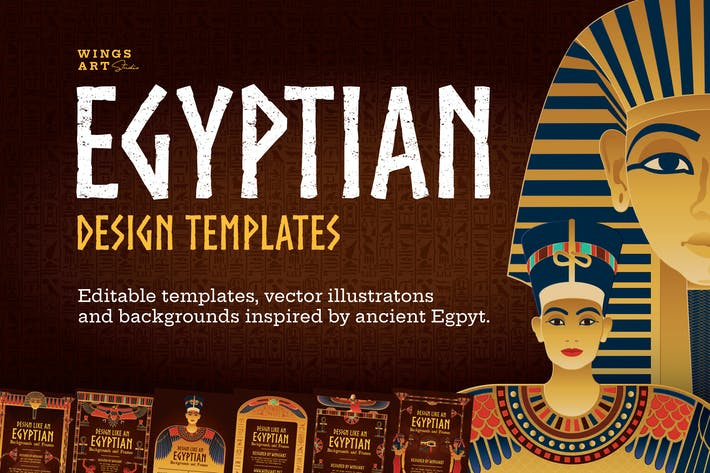 Thumbnail for Egyptian Illustrations and Poster Templates