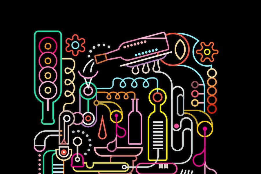 Cocktail Factory Neon Colors