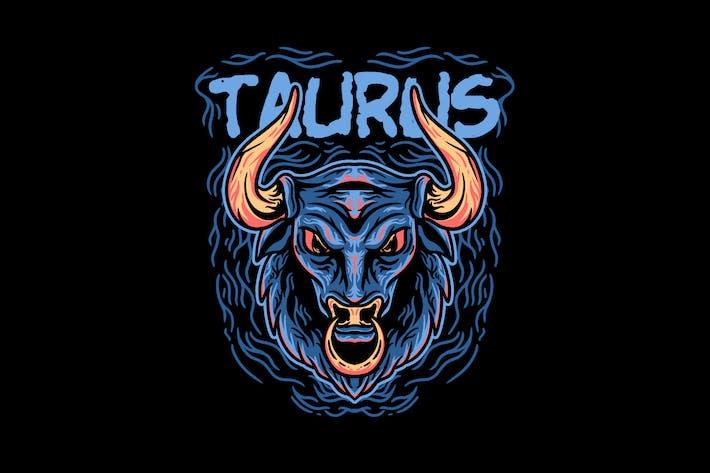 Taurus zodiac illustration