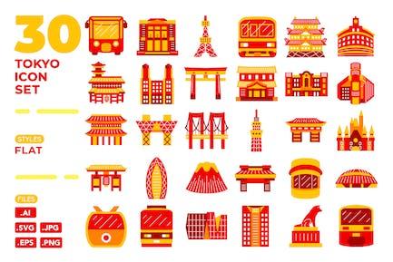 Tokyo Icon Set (flat)