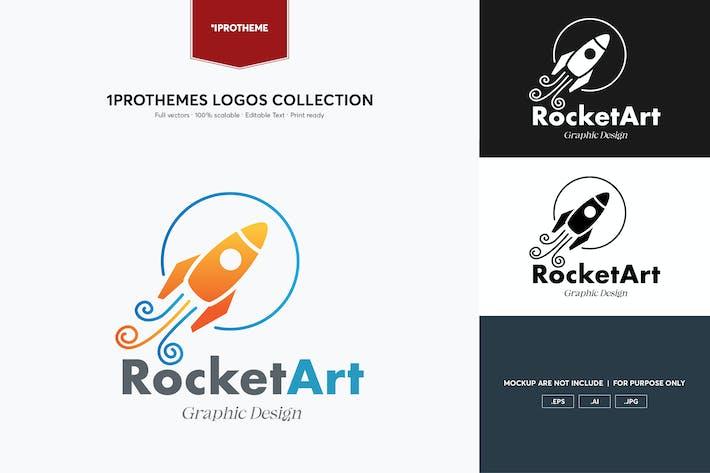 Thumbnail for Rocket Art Logo Template