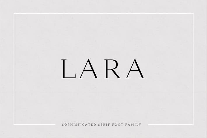 Thumbnail for Lara - Sophisticated Serif Typeface