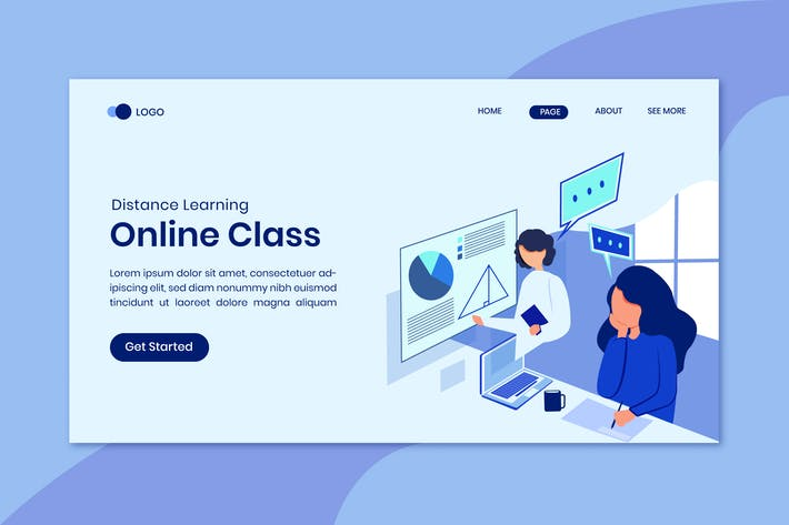 Thumbnail for Online Education Landing Page Template