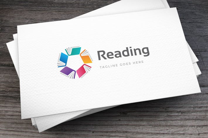 Thumbnail for Reading Club Logo Template